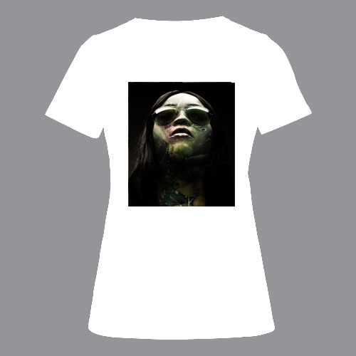 T-shirt dames, wit, MUR-01