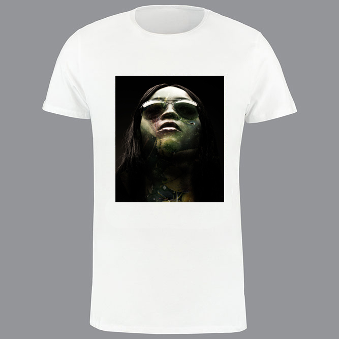 T-shirt heren, wit, MUR-01