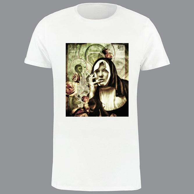 T-shirt heren, wit, Nun-01